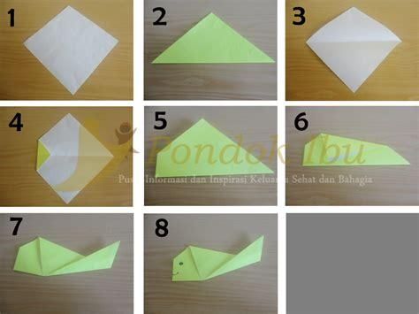 tutorial membuat origami ikan belajar membuat origami ikan
