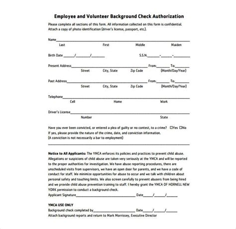9 Background Check Information Forms Templates Pdf Doc Free Premium Templates Background Check Template