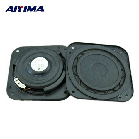 aiyima 2pcs 3 inch audio speakers hifi 8ohm 15w ultra thin