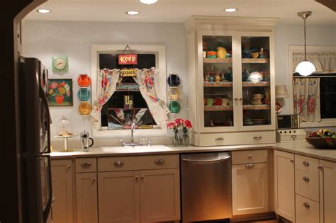 vintage inspired kitchen vintage inspired kitchen kitsch for sure eclectic