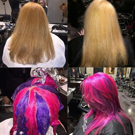 color blocking hair pinwheel block color lightener hair color block color