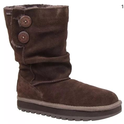 Skechers Size 7 by 76 Skechers Shoes Skechers Brown Suede Boots Size 7