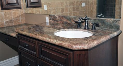 granite countertops for bathroom the astonishing granite bathroom countertops silo