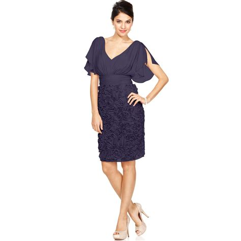 sleeve embroidered dress js collections split sleeve embroidered dress in purple