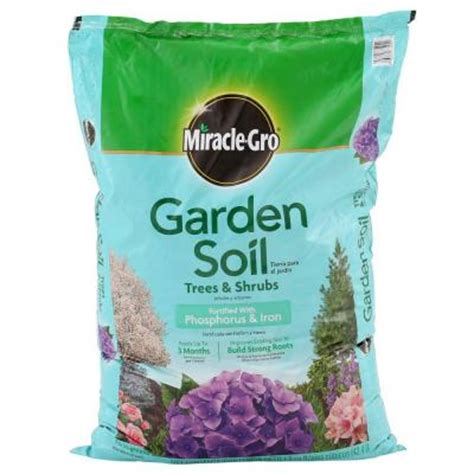 miracle gro 1 5 cu ft garden soil for trees and shrubs