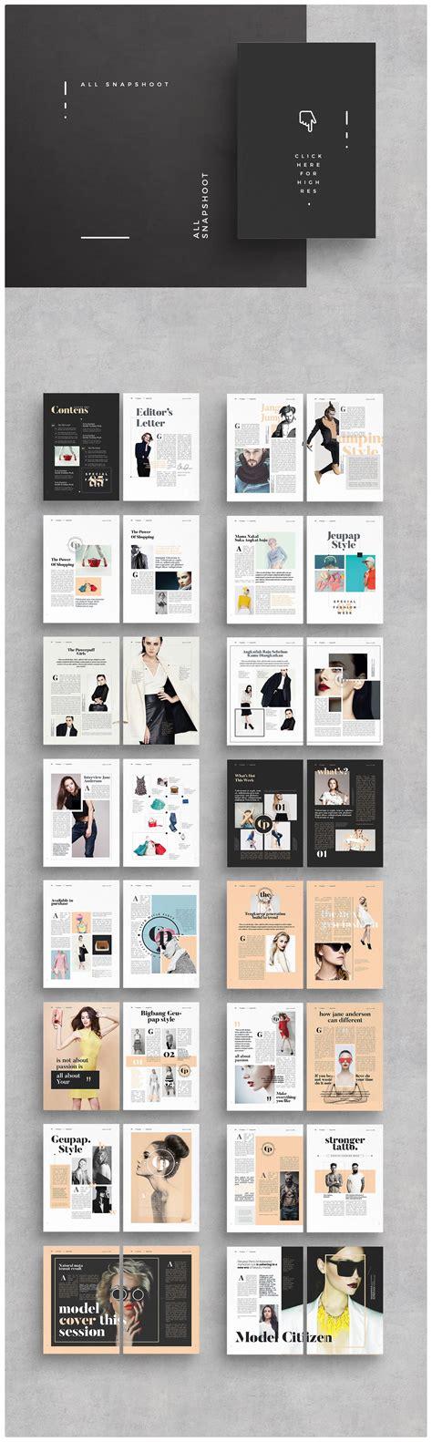 lookbook template brochure folio modern magazine
