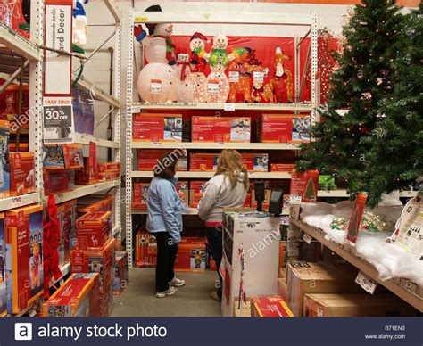 shoppers looking for decorations at a home depot