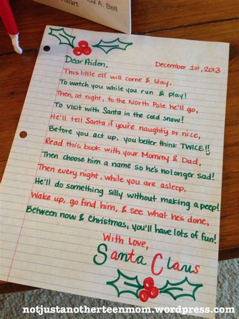 Santa Letter On A Shelf by Elfin Around Shelves The O Jays And On The Shelf