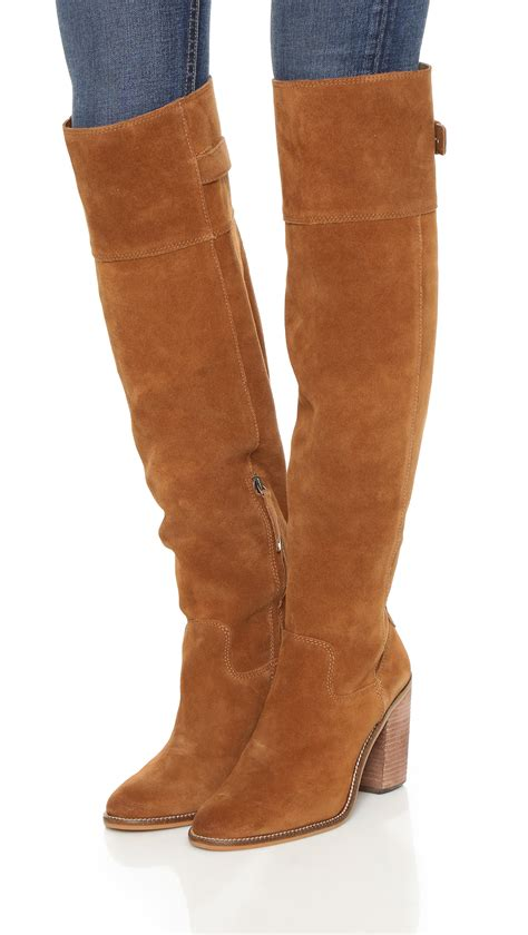 dolce vita okana boots taupe in brown lyst