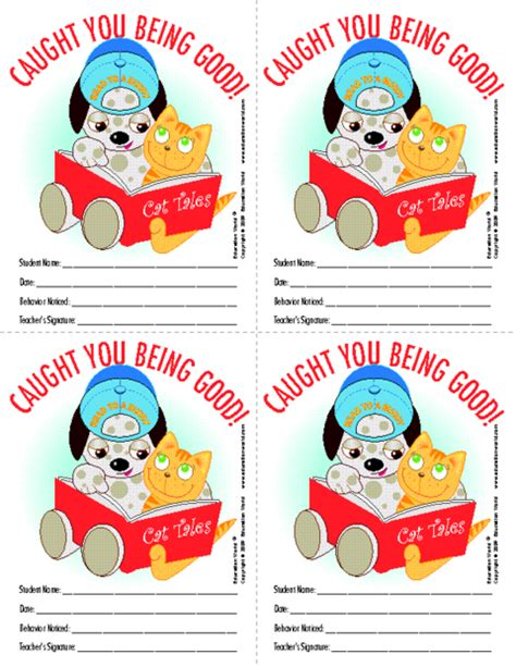 printable caught being good tickets pin caught being good ticket free printables on pinterest