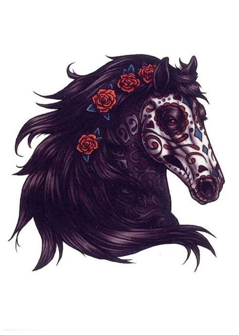 horse face tattoo designs day of the dead search ideas