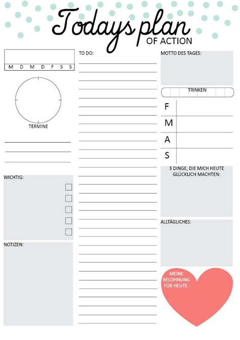 printable daily planner cute daily planners daily planner printable and planners on