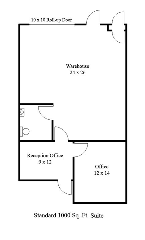 Lincoln Executive Center 1000 Square Office Plan