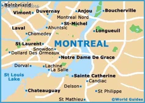 map canada montreal montreal map tourist attractions travelsfinders