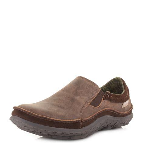 Ease Casual Slip Ons Cokelat mens cushe patrol slipper brown leather casual slip