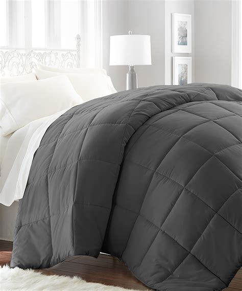 down filled comforter ienjoy home collection gray aspen over filled down