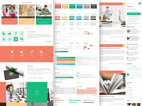 education psd templates unilearn educational psd template free psd free