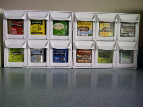 tea bag display  organizer    work bench