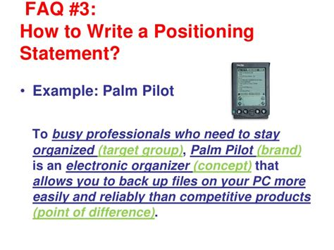 positioning statement template writing a positioning statement v2