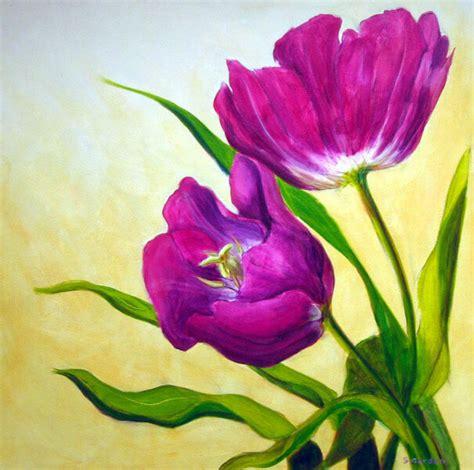 wallpaper bunga tulip ungu inilah makna dari lukisan bunga yang jarang diketahui