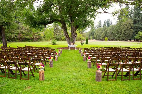 country wedding venue stock photo image  empty chair
