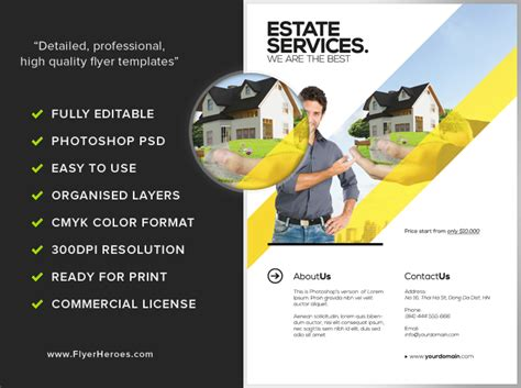 real estate poster template realtor flyer template flyerheroes