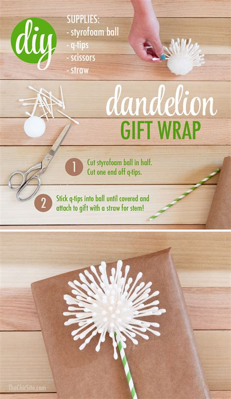 ideas for your diy dandelion gift wrap the chic site