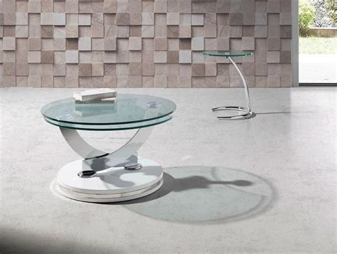 Contemporary Glass Coffee Tables Uk Modern Porto Lujo Glass Swivel Coffee Table Various Colours
