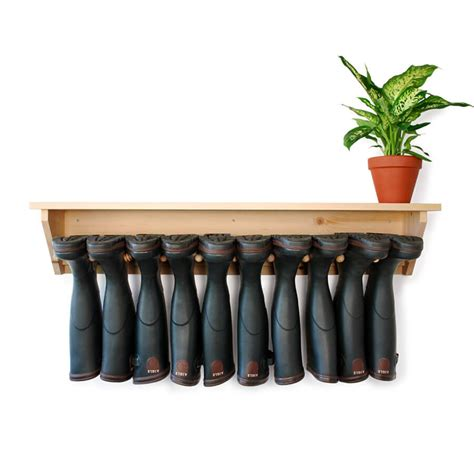 Wall Boot Rack by Wall Hanging Welly Rack 6 Pair