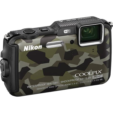 nikon coolpix aw120 waterproof digital camouflage 26468