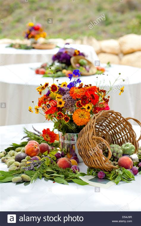 To Market Centerpiece by Farmers Market Bountiful Centerpiece Display On Outdoor