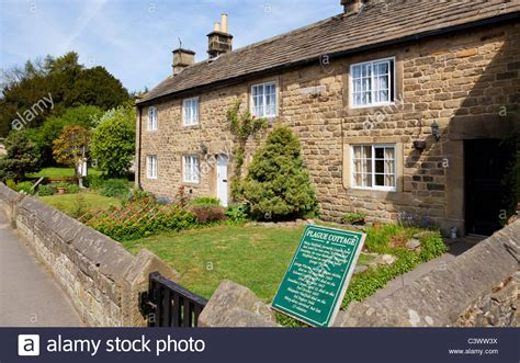 Cottages Derbyshire Peak District by Eyam Plague Cottages Eyam Derbyshire Peak District