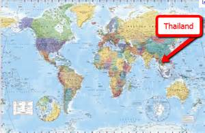 Thailand Map World by Come Rejoice With Me