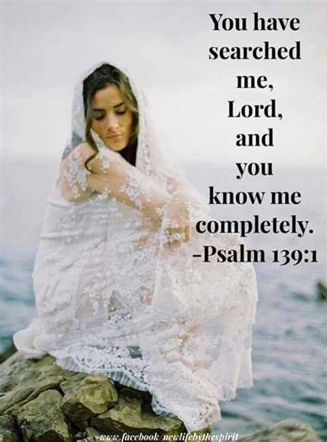 Wedding Bible Psalms by You Searched Me Lord And You Me Completely