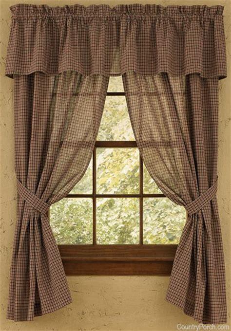 primitive panel curtains home place sheer curtain panels primitive ideals pinterest