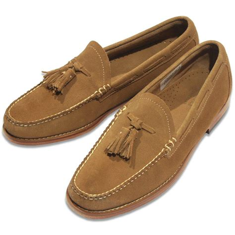 velour loafers bass weejuns larkin velour tassel loafer mid brown suede
