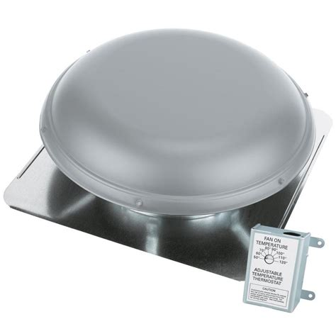 roof fan shop air vent 1170 cfm gray galvanized steel electric