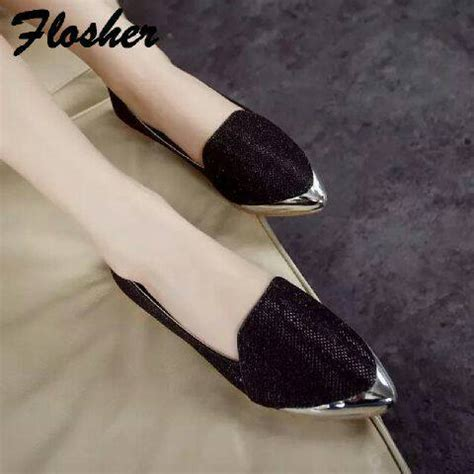Flat Shoes Glitter Hitam flat shoes model terbaru glitter cantik unik