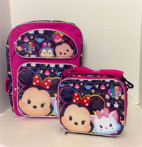 Lunch Box Tsum Tsum disney tsum tsum 16 quot inches backpack lunch box brand new