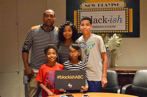 marcus scribner as a kid chatting with the kids from abc tv s quot black ish quot