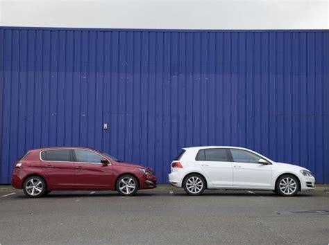 comparatif si鑒e auto comparatif peugeot 308 e hdi 115 ch volkswagen tdi 105 ch