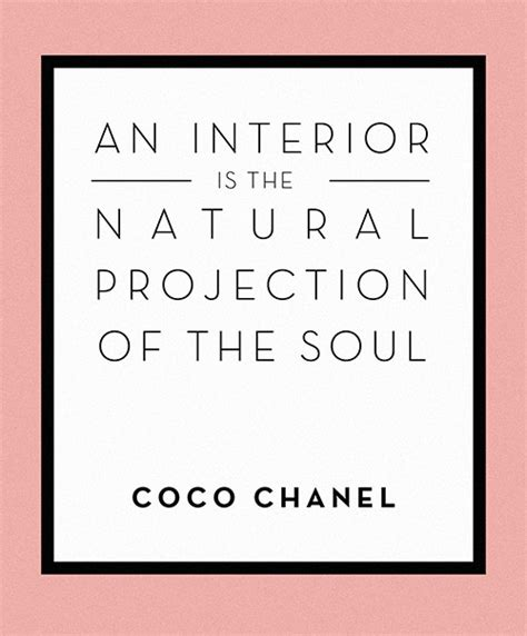 Interior Design Related Words by Wise Words From Coco Chanel Design Sponge