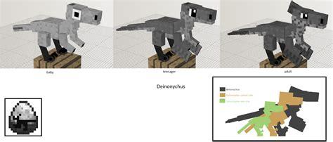 Minecraft Papercraft Dinosaur - image gallery minecraft deinonychus
