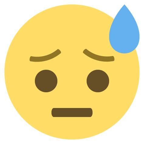 emoji vector face with cold sweat emoji emoticon vector icon free