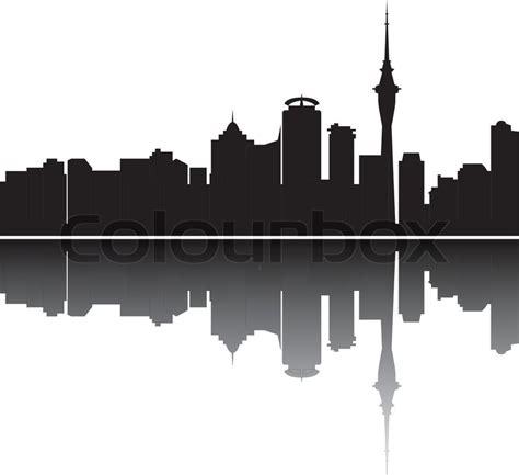 Auckland Skyline Outline by Auckland Skyline Stock Vector Colourbox