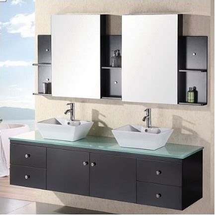 Wall Mounted Bathroom Sink Cabinets by China Glass Sink Wall Mounted Bathroom Vanities