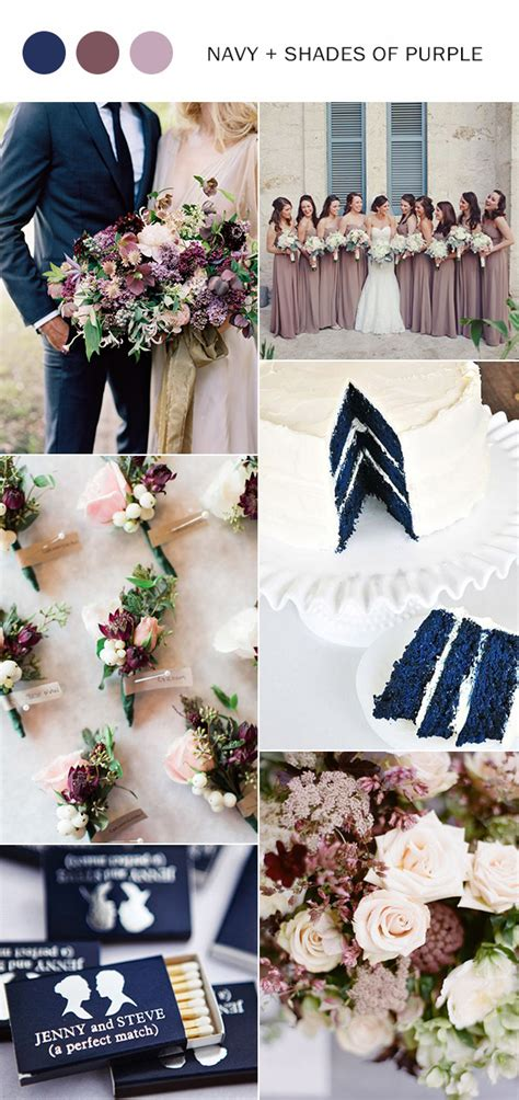 colour wedding themes ideas 10 fall wedding color ideas you ll love for 2017 purple