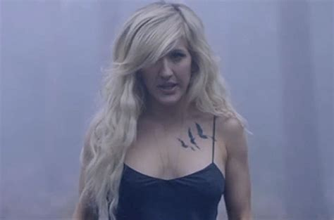 ellie goulding tattoo ellie goulding strips to tiny dress and flaunts