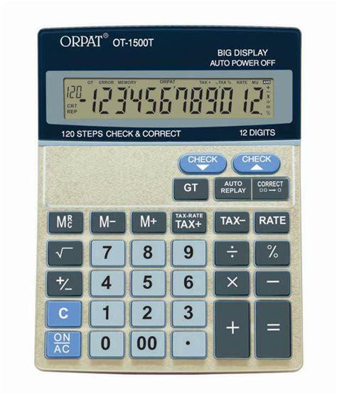 orpat ot 1500t check correct calculator buy at