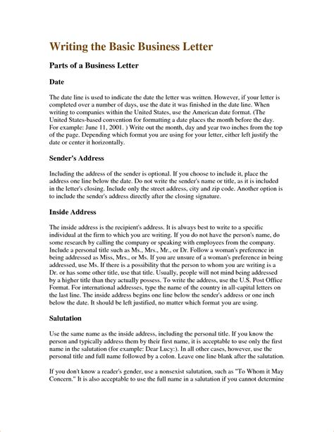Business Letter Writing Template business writing sle letters the best letter sle